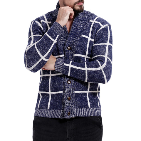 Mens Long Sleeve Knit Cardigan New Sweater