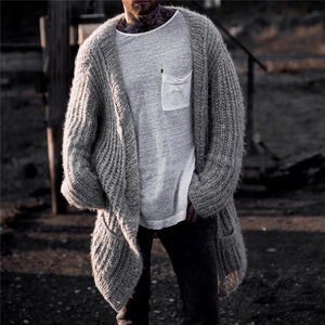 Men's casual loose solid color knit top