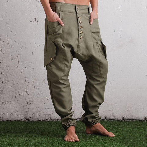 Design Men's Button Casual Pants