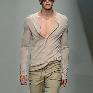 Mens Fashion Design Solid Colour Shirt