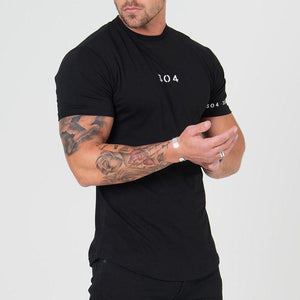 Men's Sports Short Sleeve Cotton Running Training Fitness T-Shirt