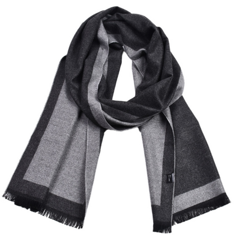 Plaid contrast color double-faced cashmere-dyed scarf