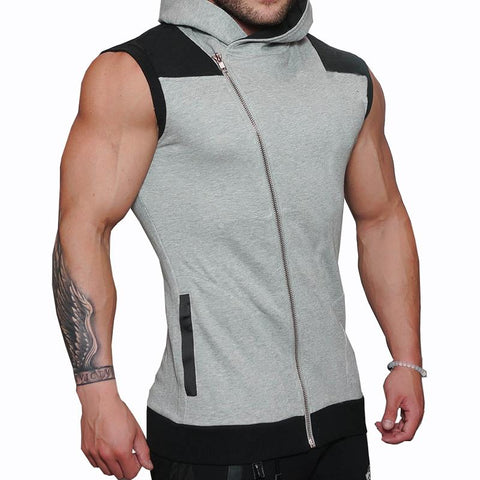 Men's Casual Sleeveless Hooded Cardigan