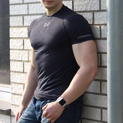 Men's Running Sports T-Shirt Round Collar