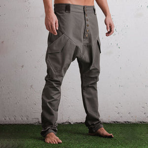 Men's Casual Design Single-breasted Button Pants