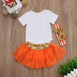 Thanksgiving Tutu Skirt Set w/Headband