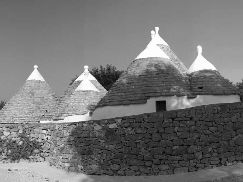 the white conical trullo houses of Puglia in southern Italy