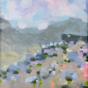 Curbar edge, peak district landscape painting