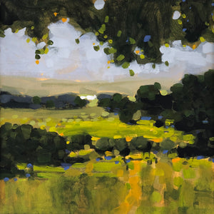 Landscape painting of land and sky