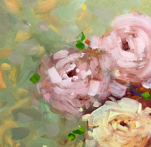 Painting of roses detail