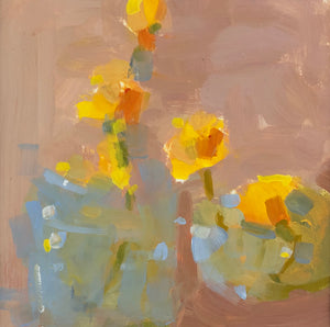Painting of daffodils in a vase