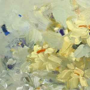 Painting of spring flowers detail