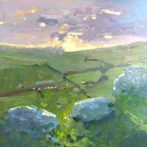 Peak District landscape painting