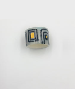 """Rings - Gold Lustre and Underglaze"""