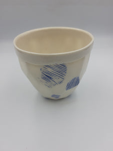 Faceted Cobalt Inlay Tea Bowls