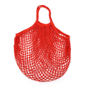 Reusable Shopping String Bag - Red - MissionReduce