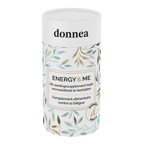 Donnea Energy & Me - Natural Energy Supplement for Women - Energy Booster - Donnea - Created for and by women Energy & Me is a nutritional supplement formulated for women with an active and dynamic life, directly targeting fatigue and giving you a natural energy boost to keep you fit, active and focused all day long. Promotes weight loss by burning fat cells and turning them into energy.