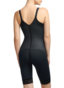 Sensual Curves Open Bust Mid Thigh Bodysuit