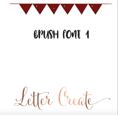 Brush Font 1 - Calligraphy Worksheets, Calligraphy Workbook, Handwriting Workbook Cursive