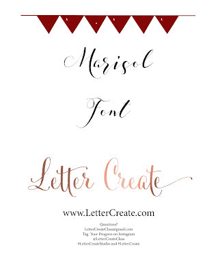 Marisol Font - Calligraphy Worksheets, Calligraphy Workbook, Handwriting Workbook Cursive