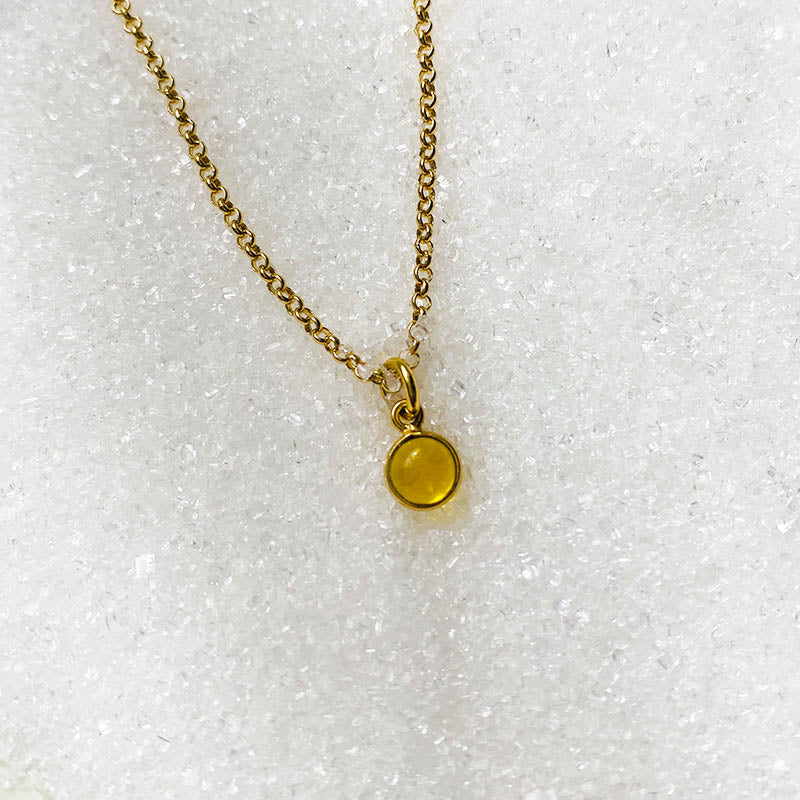 Goldplated ketting met Citrien bedel