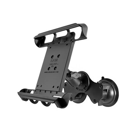 RAM Double Twist-Lock Suction Mount with Spring Cradle for Tablets with Cases (RAM-B-189-TAB8U) - RAM Mount China