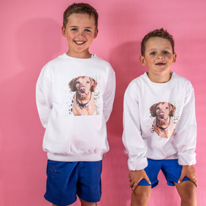 Kids CUSTOM oversized SWEATER - PRINT-YA-PET