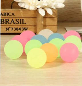 10Pcs Bouncy Rubber Balls, Pinata Fillers, Kids Toy, & Glow in the dark