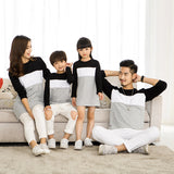 Family Look Mother Daughter Dress 2019 Family Clothing Father Son T-Shirt Cotton Patchwork Striped