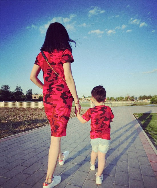 2018 summer dress mother father son matching