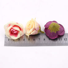 Load image into Gallery viewer, 10pcs 4cm Silk Rose Artificial Flower