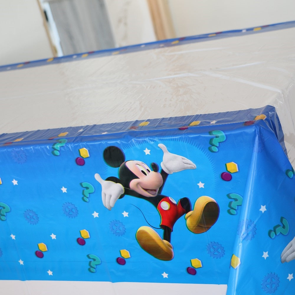 Mickey Mouse Plastic Disposable Tablecover