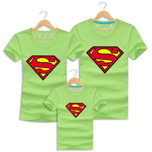 Load image into Gallery viewer, Father Son Matching Clothes Superman Family Tshirt