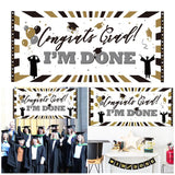 "Graduation Wall Banner ""I'M DONE"""