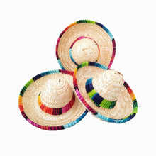 Load image into Gallery viewer, 6pcs/lot natural straw mini sombrero/new design mini mexican hat