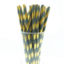 Load image into Gallery viewer, 25pcs Gold Foil Straws