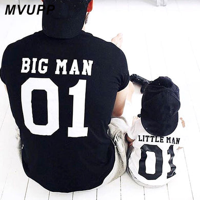 family matching clothes big litter man tshirt daddy and me