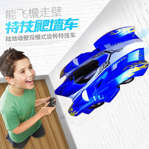 Children's toys, electric remote control wall climbing car.