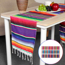 Load image into Gallery viewer, 3 Colors Mexican Party Serape Cotton  213X35cm