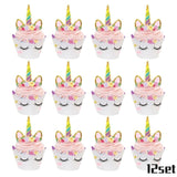 20pcs Unicorn Disposable Tableware