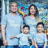 Family Matching Outfits Letter Printed The Original Remix Family T-shirts Father and Son Clothes