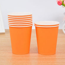 Load image into Gallery viewer, 50pcs Solid Color Disposable Paper Cup 250ML