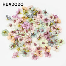Load image into Gallery viewer, 50Pcs 2cm Multicolor Flower for Wreath Scrapbooking Home Wedding Decoration