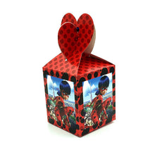 Load image into Gallery viewer, 12pcs/lot Miraculous Ladybug Disposable Paper Box