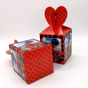 12pcs/lot Miraculous Ladybug Disposable Paper Box
