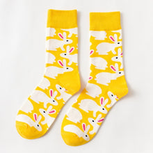 Load image into Gallery viewer, Men/Women Colorful Socks Unisex Easter Rabbit Eggs Socks