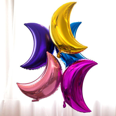 20pcs 10 inch / 18 inch Moon Shaped Aluminum foil Balloons