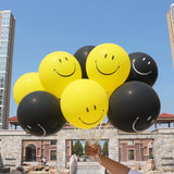 50pc 12inch Latex Smiley Face Balloons Birthday Decor