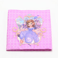 Load image into Gallery viewer, 106Pcs Princess Sofia Disposable Tableware Girls Birthday Party Decoration