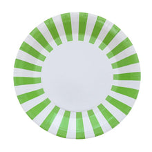 Load image into Gallery viewer, 12PCS Colorful Striped Disposable Paper Plates Wedding Party Supplies